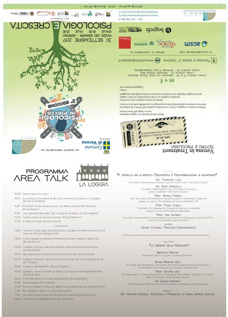 Psicologo Verona Psicologi in Piazza Verona 2017 brochure
