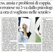Psicologo Verona articolo corriere di Verona