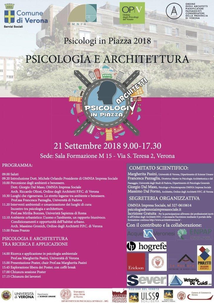 PSICOLOGO VERONA PSICOLOGI IN PIAZZA VERONA PSICOLOGIA E ARCHITETTURA